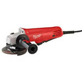 "The Milwaukee Model #6140-30 4-1/2"" 7.5 Amp Small Angle Grinder delivers performance, durability and ease-of-use features for industrial grade users."