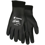 The Ninja® Ice Fully Coated gloves feature a 15 gauge black nylon shell with a 7 gauge acrylic terry interior liner. Black HPT fully coated.